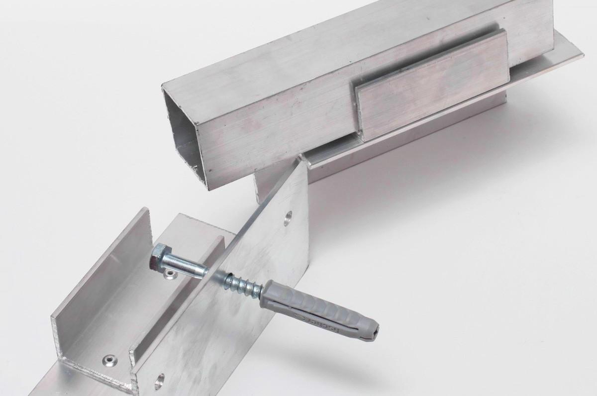 pattes de fixation pour cadre en aluminium mur d images ch ssis sur mesure en ligne mur d. Black Bedroom Furniture Sets. Home Design Ideas